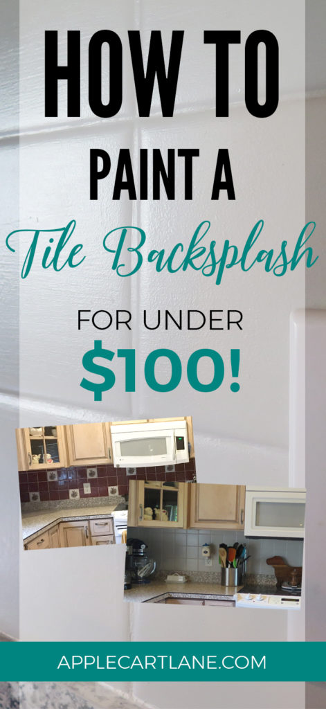 How To Paint A Tile Backsplash Applecart Lane