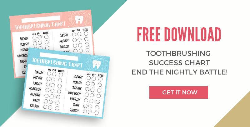 picture regarding Printable Tooth Brushing Chart identified as Baby Toothbrushing Achievement Chart Printable - Applecart Lane