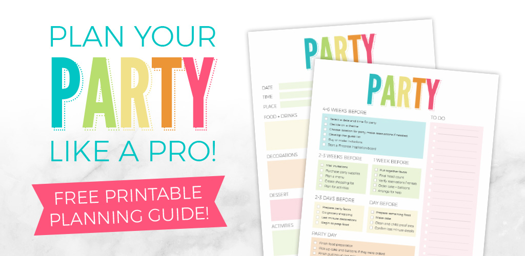 Party Planning Printable – Plan A Pinterest Worthy Party!