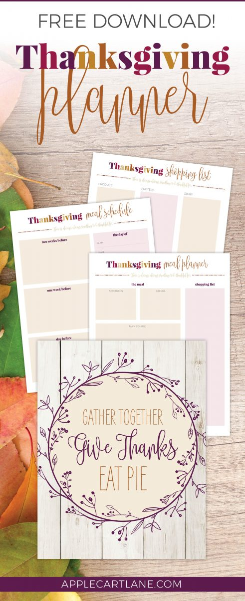 photograph relating to Thanksgiving Planner Printable referred to as Thanksgiving Planner Printable - Applecart Lane