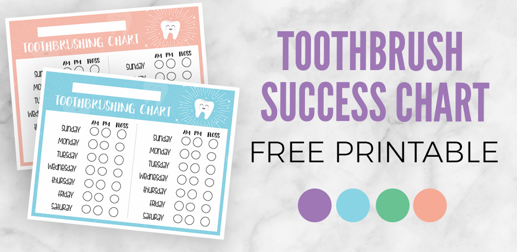 photograph regarding Printable Tooth Brushing Charts called Newborn Toothbrushing Achievement Chart Printable - Applecart Lane