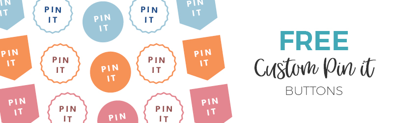 How to Add a Custom Pin it Button to your Blog Images - Applecart Lane